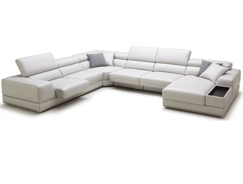 modern contemporary leather sectionals houston