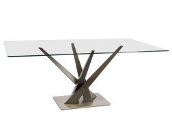 Crystal Rec. Dining Table by Danish Inspirations