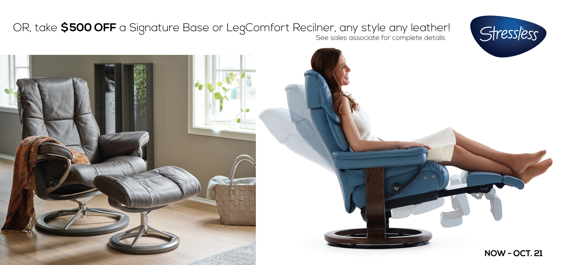 Signature Base or LegComfort Recliner by Danish Inspirations